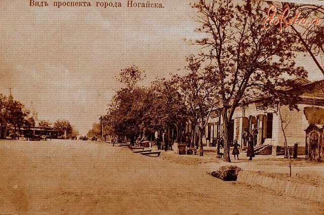 Вид проспекта города Ногайск