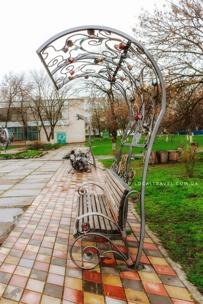 Парк кованых фигур в Бердянске